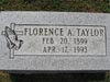 Taylor, Florence (Fisher), Westboro IOOF Cem., Clinton Co., Ohio