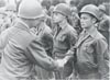 BISHIR, Robert E. receiving the Bronze Star in WW II